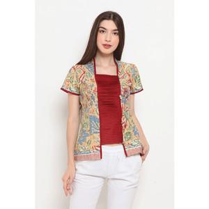 Harga kebaya lipit 3n t0501 baju atasan kerja batik wanita modern nonarara   | HARGALOKA.COM