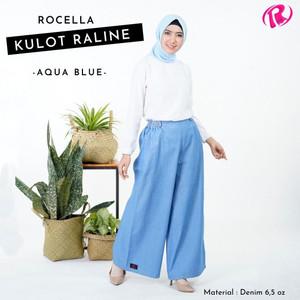 Harga rocella kulot raline kulot denim kulon jeans denim kulot wanita   biru | HARGALOKA.COM