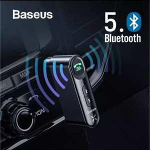Harga baseus 3 5mm aux audio wireless bluetooth mp3 adapter for car | HARGALOKA.COM