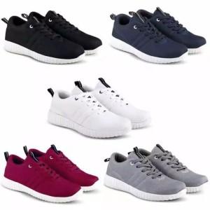 Harga promo rz 01 sneaker casual pria wanita 39 43 sepatu murah terbaru   hitam   HARGALOKA.COM