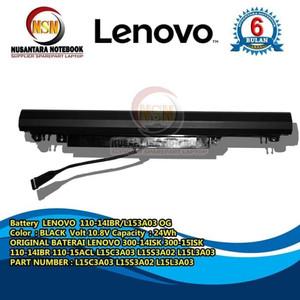 Harga baterai battery lenovo ideapad 110 14ibr 110 15ibr l15c3a03 | HARGALOKA.COM
