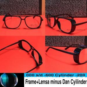 Harga kacamata tony strak safety frame lensa minus antiradisi uv   HARGALOKA.COM