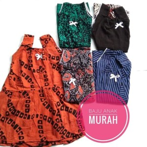 Harga dress batik anak perempuan murah lucu baju tidur santai dirumah | HARGALOKA.COM