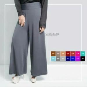 Harga celana kulot wanita panjang polos cantik | HARGALOKA.COM