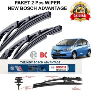 Harga wiper mobil kaca depan honda jazz rs original bosch 2pcs | HARGALOKA.COM