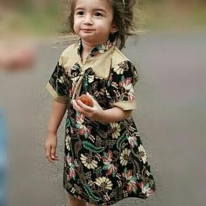 Harga dress batik anak kombinasi cantik usia 1 13 tahun kode dn 4   1 2 | HARGALOKA.COM