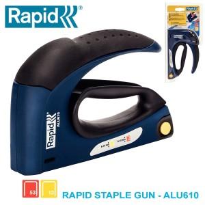Harga staples tembak rapid alu610 staple gun stapler | HARGALOKA.COM