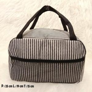 Harga tas bekal makanan lunch box alumunium foil m105 a stripes | HARGALOKA.COM