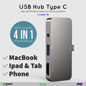 Harga usb hub 3 0 type c 4 port in 1 for macbook ipad pro tab | HARGALOKA.COM