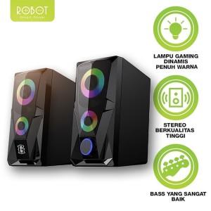 Harga speaker aktif stereo gaming robot rs200 garansi resmi 1 | HARGALOKA.COM