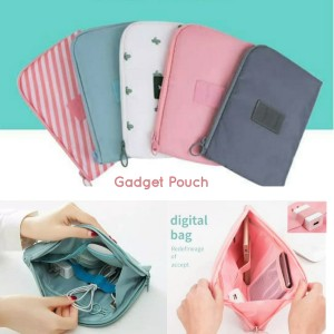 Harga gadget pouch dompet hp charger cable adaptor dompet multifungsi   | HARGALOKA.COM