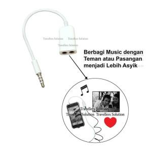 Harga adaptor jack music dan share securiguard murah stereo jack | HARGALOKA.COM