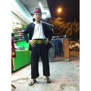 Harga setelan baju pangsi betawi dewasa setelan sabuk dan peci   hijau | HARGALOKA.COM