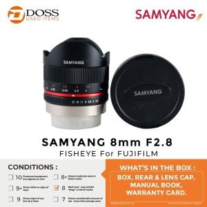 Harga samyang 8mm f2 8 fisheye for fujifilm   score 8   ex garansi   HARGALOKA.COM