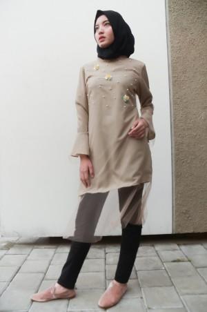 Harga cream fairy tunic   markamarie   modest fashion busana | HARGALOKA.COM