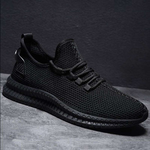 Harga sepatu sneakers kasual import pria v991sepatu jaring jogging dan kulia   hitam | HARGALOKA.COM