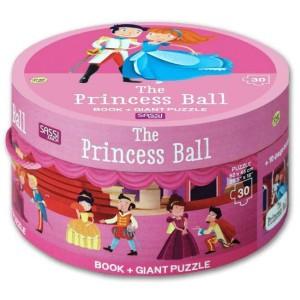 Harga the princess ball round box set includes board book giant puzzle | HARGALOKA.COM
