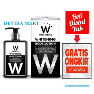 Harga w wink white whitening body lotion bodi losion pemutih kulit hitam | HARGALOKA.COM