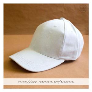 Harga topi baseball cap putih dewasa polos pria wanita casual sport   | HARGALOKA.COM