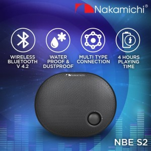Harga nakamichi nbe s2 speaker portable audio wireless bluetooth | HARGALOKA.COM