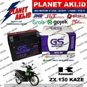 Harga aki motor kawasaki zx 130 kaze gtz5s gs y accu kering | HARGALOKA.COM