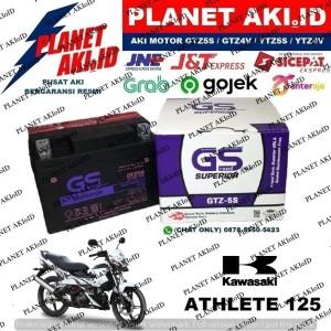 Harga aki motor kawasaki athlete 125 gtz5s gs y accu kering | HARGALOKA.COM