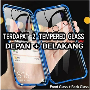 Harga front back huawei honor 8x tempered glass hard case bumper | HARGALOKA.COM