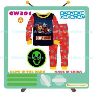 Harga piyama ironman glow in the dark pajamas gw 301   2 3 | HARGALOKA.COM