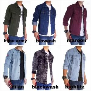 Harga jaket jeans pria jaket levis cowok keren klasik kekinian denim   bioblitz   HARGALOKA.COM