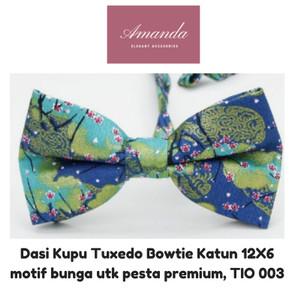 Harga dasi kupu tuxedo bowtie katun dewasa 12x6 motif bunga | HARGALOKA.COM