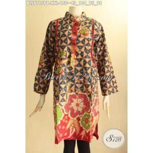 Harga blouse batik wanita gemuk kerah shanghai berkelas size xxl | HARGALOKA.COM