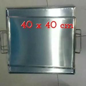 Harga wajan plat persegi panggangan roti kebab ukuran 40 | HARGALOKA.COM
