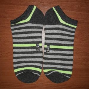 Harga kaos kaki sneaker pria 39   42 stripes   hijau | HARGALOKA.COM