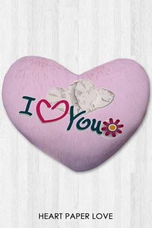 Harga bantal hati kado valentine   heart paper love | HARGALOKA.COM