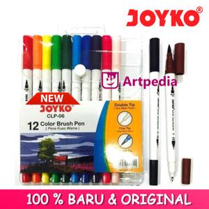 Harga Brush Pen Joyko 12 Warna Clp 06 Dua Mata Pena Katalog.or.id