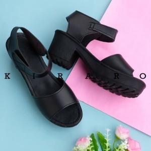 Harga kiraro sepatu hak tinggi high heels kokop wanita casual pesta khbr02   hitam   HARGALOKA.COM