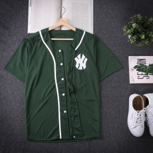 Harga baju baseball   jersey baseball ny hijau daun pria   HARGALOKA.COM