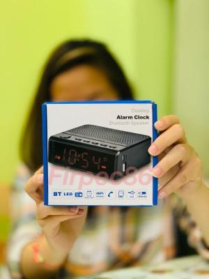 Harga leadstar radio portable desktop bluetooth speaker alarm clock | HARGALOKA.COM