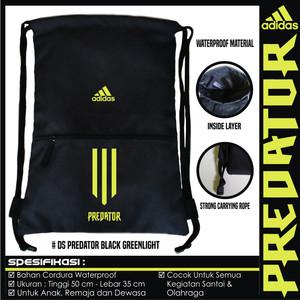 Harga tas sepatu serut drawstring gymsack adidas hitam   hitam | HARGALOKA.COM
