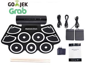 Harga portable roll up drum pad set kit md760 built in speaker support | HARGALOKA.COM