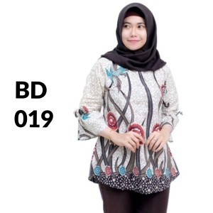 Harga atasan batik seragam batik solo batik baju batik wanita bd 019   | HARGALOKA.COM