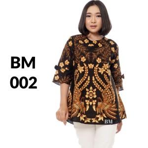 Harga atasan batik seragam batik solo batik baju batik wanita bm 002   | HARGALOKA.COM