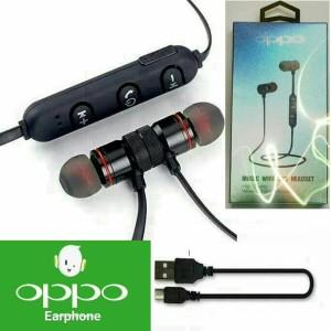 Harga headset bluetooth sport oppo earphone handsfree metal solid magnet bm1   | HARGALOKA.COM
