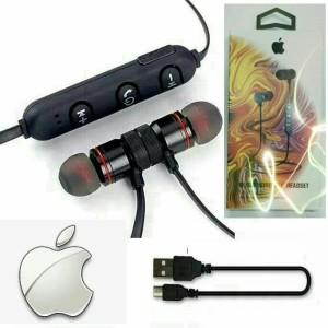 Harga headset bluetooth sport iphone x earphone metal solid magnet bm1   | HARGALOKA.COM