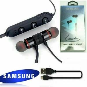 Harga headset hf bluetooth sport samsung earphone metal solid magnet bm1   | HARGALOKA.COM
