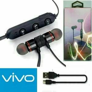 Harga headset bluetooth sport vivo earphone handsfree metal solid magnet bm1   | HARGALOKA.COM