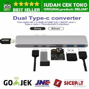Harga hyperdrive alternative usb c 7in1 hdmi card reader hub macbook new 4k   | HARGALOKA.COM