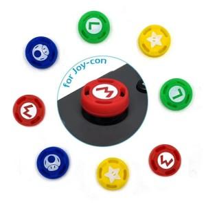 Harga nintendo switch joycon thumb grip nintendo switch mario 1 set 4 pcs | HARGALOKA.COM