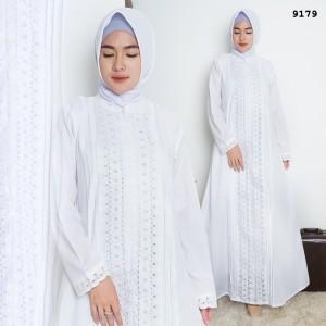 Harga gamis putih katun jepang baju haji gamis ihrom perlengkapan haji 9179   putih | HARGALOKA.COM