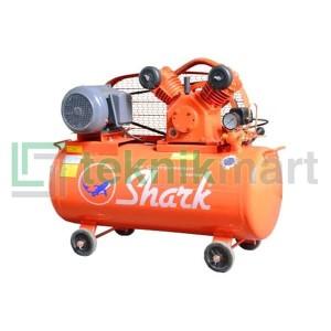 Harga kompressor angin shark 1hp lvpm   6501 dengan electro | HARGALOKA.COM